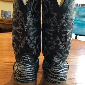 Roper Shoes - Roper faux leather bling cowboy boots - perfect